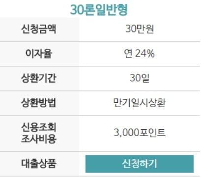 30만원 소액대출 머니비앤비